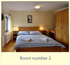 Pension WOK Cesky Krumlov room no.2 with a view of the river Vltava